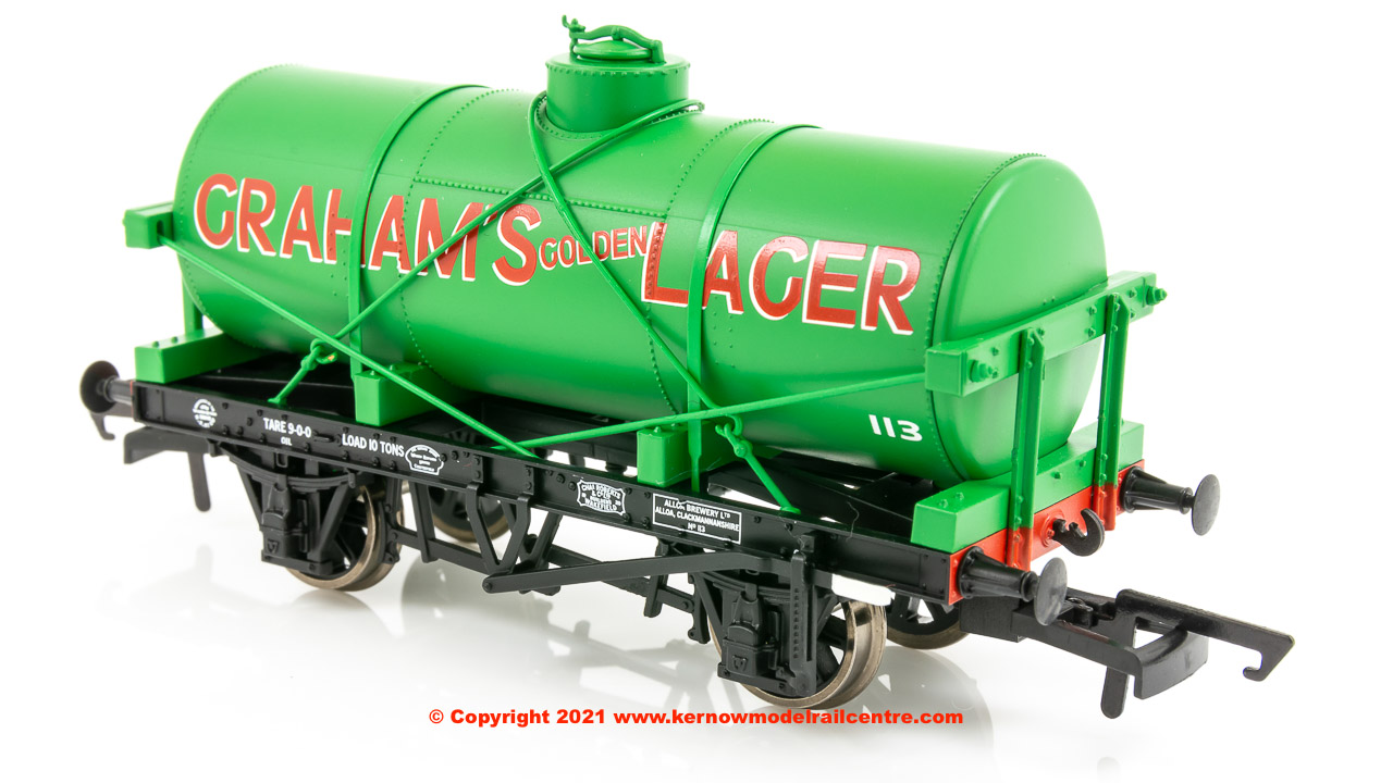 OR76TK2006 Oxford Rail 12 Ton Tank Wagon number 113 - Grahams Golden Lager